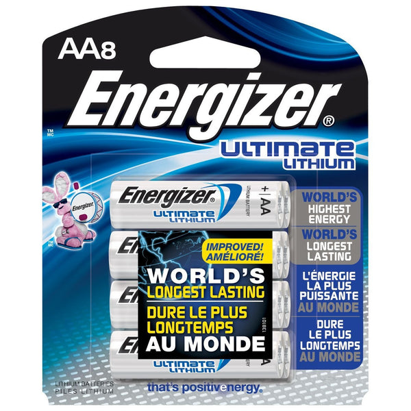 Baterías de Litio Energizer AA Ultimate Lithium