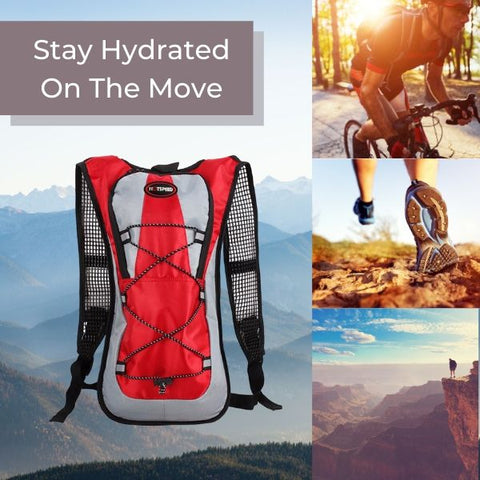 TrailStylz™ 2L Hydration Backpack for Cycling, Running & Hiking