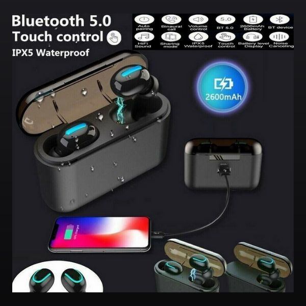BlueDevine Wireless Bluetooth Earbuds With Charger