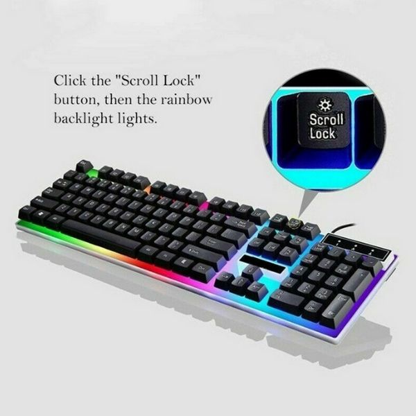 GhostGlo RGB Gaming Keyboard and Mouse