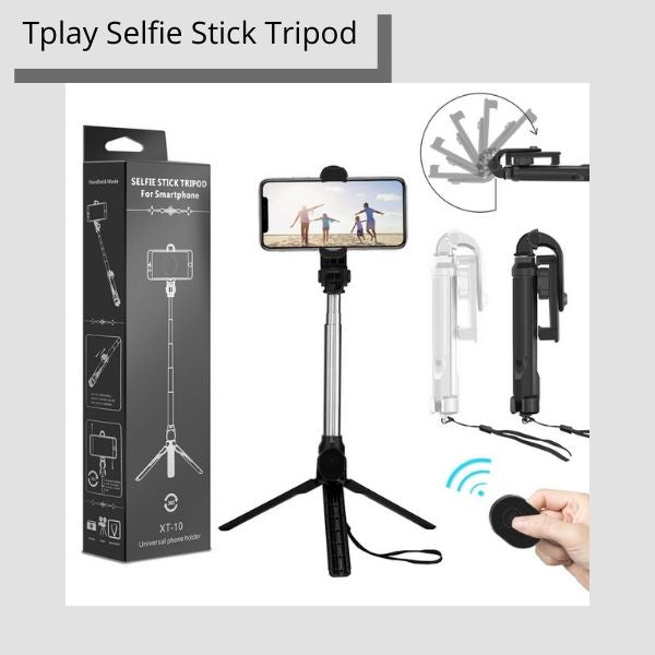 Tplay All-In-One Bluetooth Selfie Stick Tripod