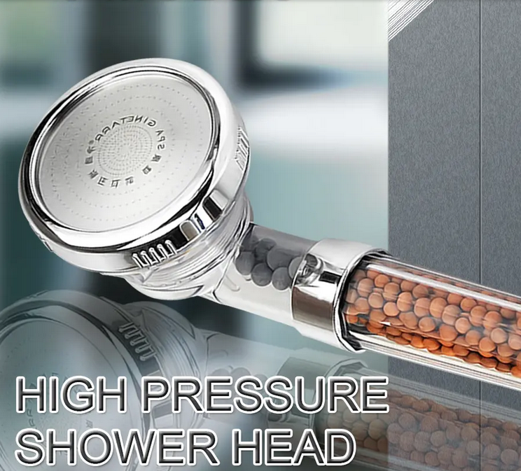 HomeDevine™  3-Mode Adjustable Pressure Shower Head with Ionic Filtration