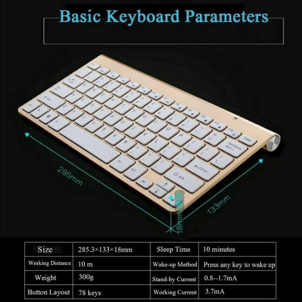 Keywiz Mini Wireless Keyboard And Mouse Set