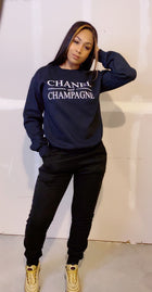 Chanel & Champagne Sweatshirt (Black)