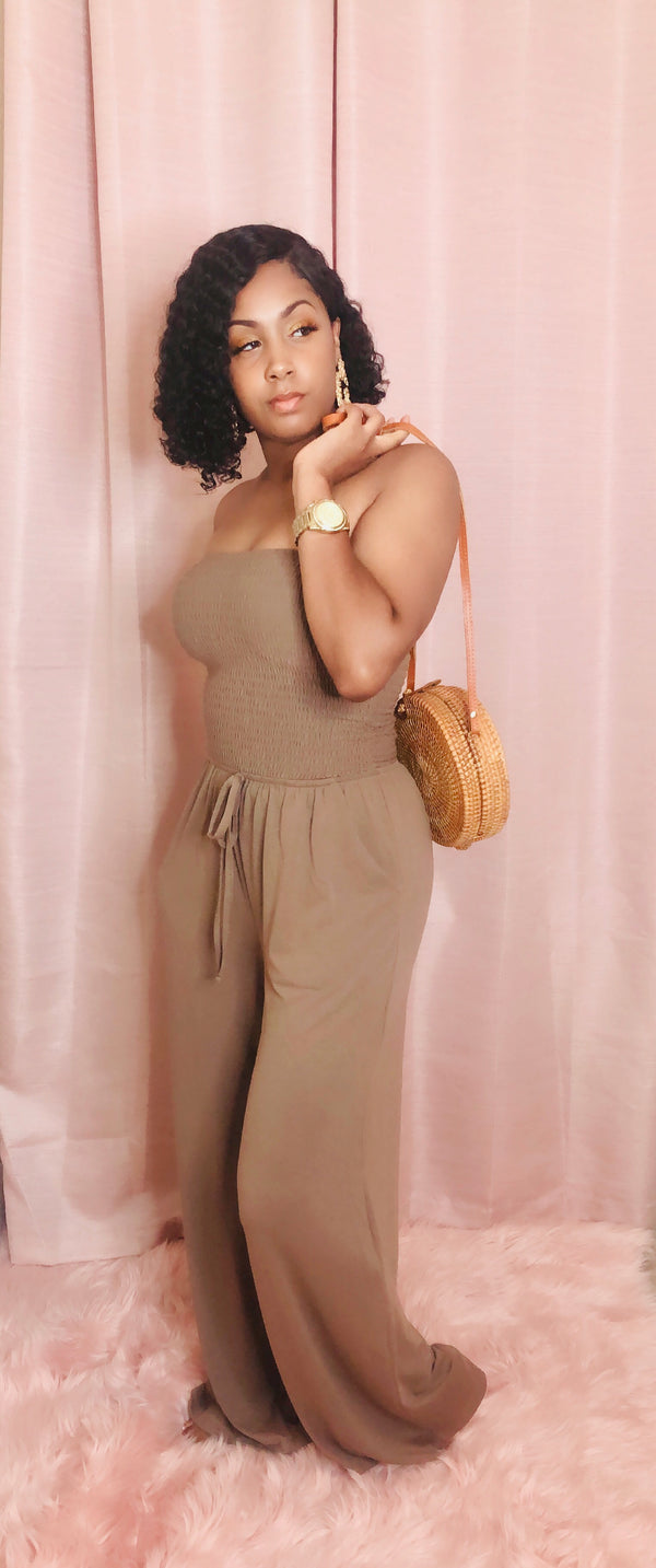 "The ""Londyn"" Jumpsuit (Mocha)"