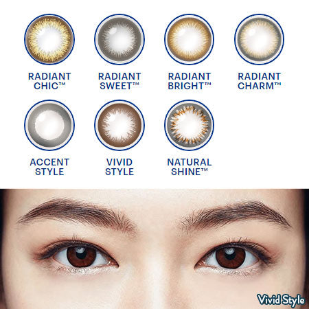 1-Day Acuvue Define Daily Disposable Colored Contact Lenses Chart