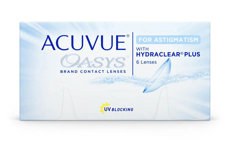 Acuvue Oasys for Astigmatism Fortnightly Toric Contact Lenses with Hydraclear Plus by Johnson & Johnson