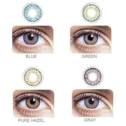 Freshlook One-Day Color Daily Disposable Colored Contact Lenses color chart by Alcon