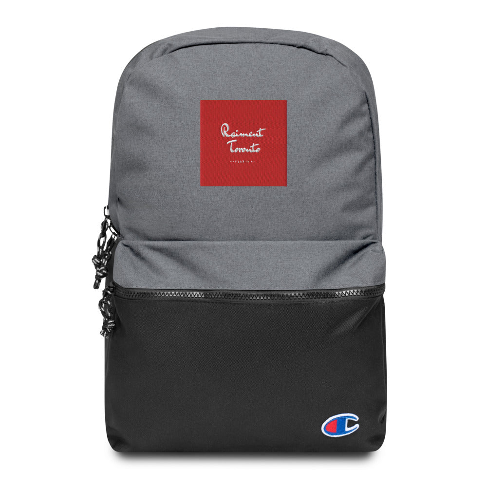 Embroidered Champion x Raiment Backpack
