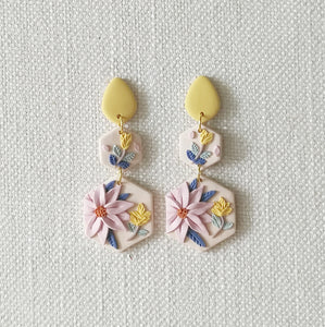 Polymer Clay Earring - From Dawn to Dusk (Dawn) - Thehappyslabs