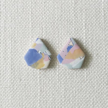 Load image into Gallery viewer, Polymer Clay Earrings- Marvel Marble (Diamond stud) - Thehappyslabs