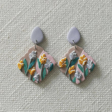 Load image into Gallery viewer, Polymer Clay Earring- Flower Shower (Pink dangles) - Thehappyslabs