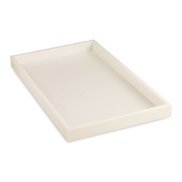 "White Plastic Standard Display Tray  1"" H"