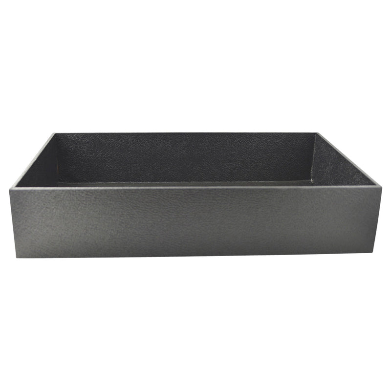 "Black Faux Leather Standard Display Tray  3"" H"