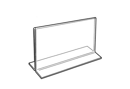 "Clear Acrylic Double-Sided Sign Holder 3-1/2"" H"