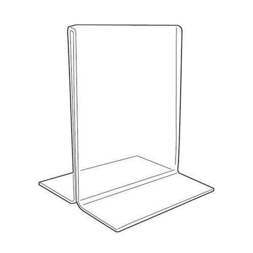 "Clear Acrylic Double-Sided Sign Holder 7"" H"