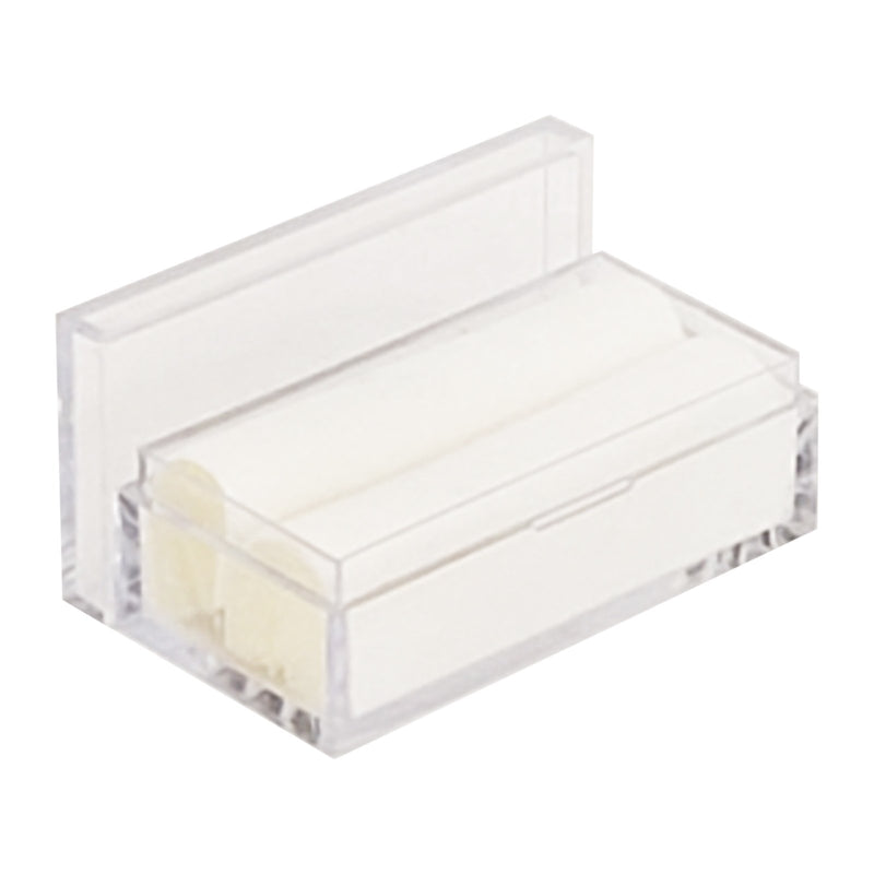 "White Glass Top  Rectangular Gem Jar Display 3/4"" H"