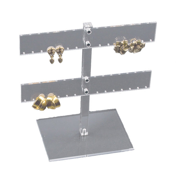 "Acrylic 14 Pair Earring Rack Display 8-1/4"" H"