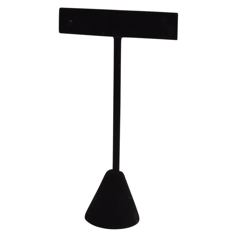 "Black Velvet T-Shape Earring Stand Display 4-1/2""H."
