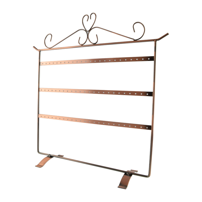 "Copper Metal 36 Pair Earring Rack Display 14-3/4"" H"