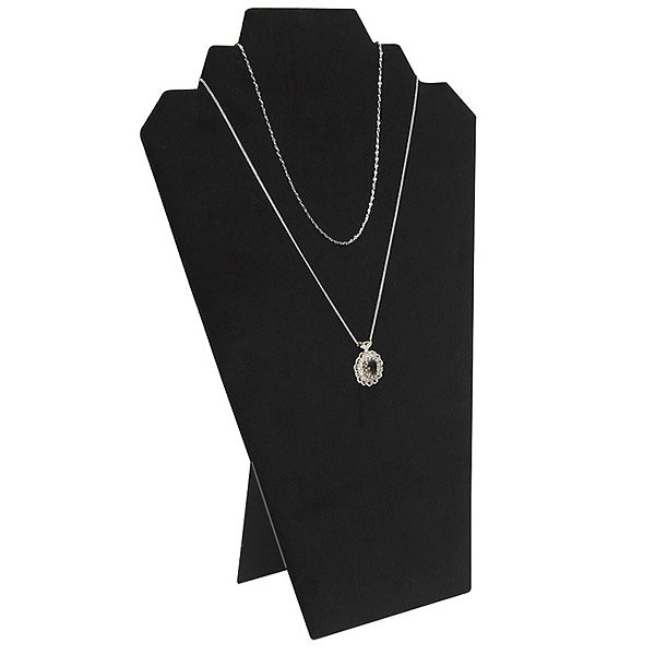 "Black Velvet Easel Necklace Display 12-1/2"" H"