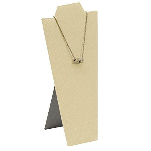 "Beige Faux Suede Easel Necklace Display 8-7/8"" H"
