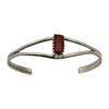 Elaine Tahe Sterling Silver Native American Navajo 3 Row Rope 9mm Cuff Bracelet
