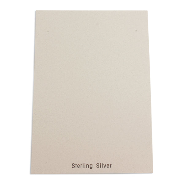"100pc Pack White ""Sterling Silver"" Earring Cards 8"" H."