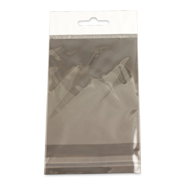 "100pc Pack Hanging Header OPP Adhesive Seal Bags 3""x 4"" H"