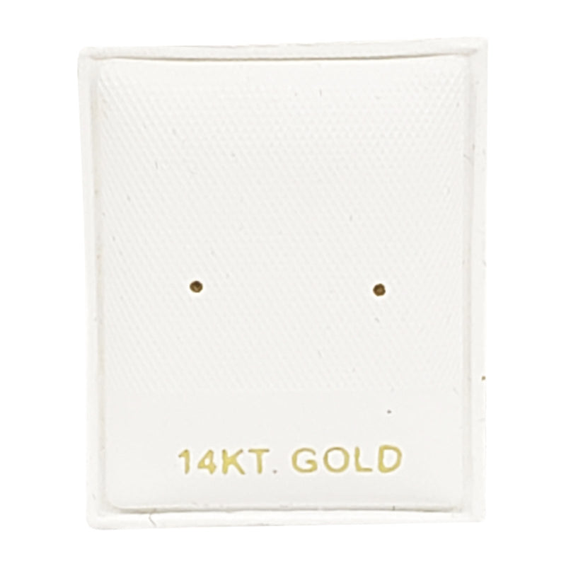 "100pc Pack ""14KT Gold"" White Leather Puff Earring Pads 1- 3/8"""