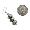 Sophia Becenti Sterling Silver Medium 3 Bead Stamped Navajo Pearl Earrings