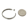 Sterling Silver Elaine Tahe Round & 2 Rope Twist Hoop Navajo Earrings 1-5/8""