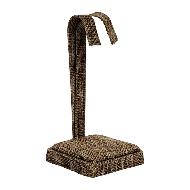 "Burlap Earring Tree Stand 4-1/4""H."