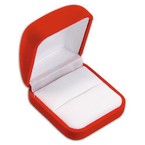 "Red Square Ring Gift Box 1-1/4"" H"