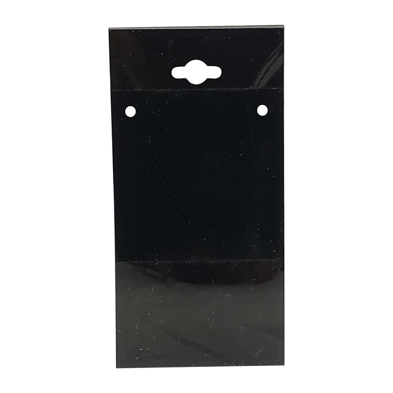 "100pc Pack Black Plastic Necklace Hanging Earring Cards 4""H."
