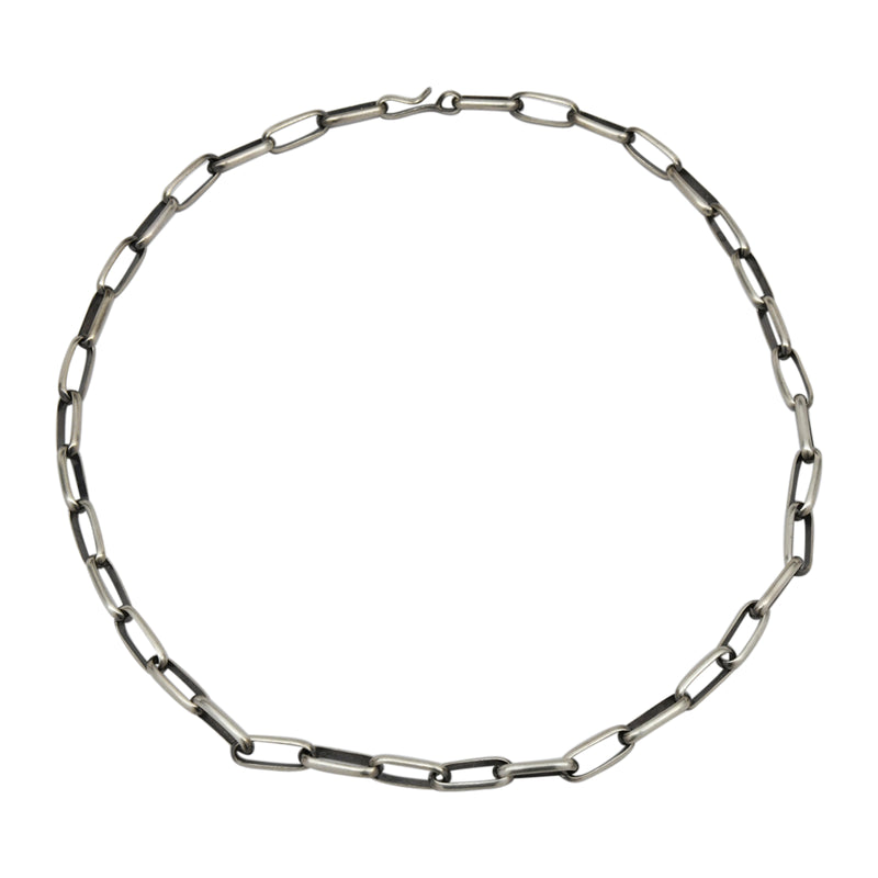 "Sally Shirley Sterling Silver Navajo 12 gauge Half Round Plain Handmade Chain. Available from 18"" to 30"""