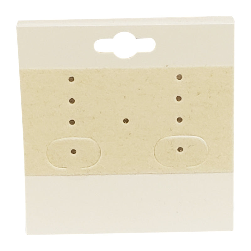 "100pc Pack Beige Plain Hanging Earring Cards 2""H."