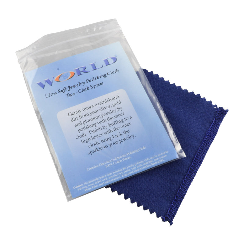 "Small Blue Jewelry Polishing Double Cloth System 6"" H."