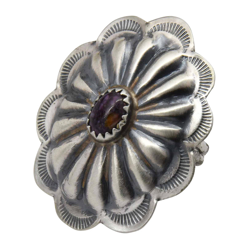 Ryan Begay Purple Spiny Oyster Shell Concho Sterling Silver Navajo