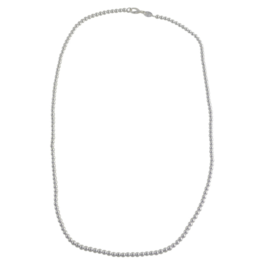 Sterling Silver Loose Hollow Bead Ball 3mm Necklace Chain Italian Italy .925