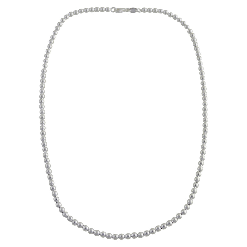 Sterling Silver Loose Hollow Bead Ball 4mm Necklace Chain Italian Italy .925