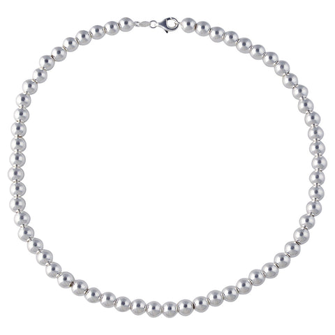 Sterling Silver Small Heart Link 5.8mm Anklet Chain Italian Italy Solid .925