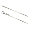 Sterling Silver Gunmetal Oxidized Round Bead 3mm Necklace Chain .925 Italy