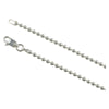 Sterling Silver Loose Hollow Bead Ball 12mm Necklace Chain Italian Italy 925
