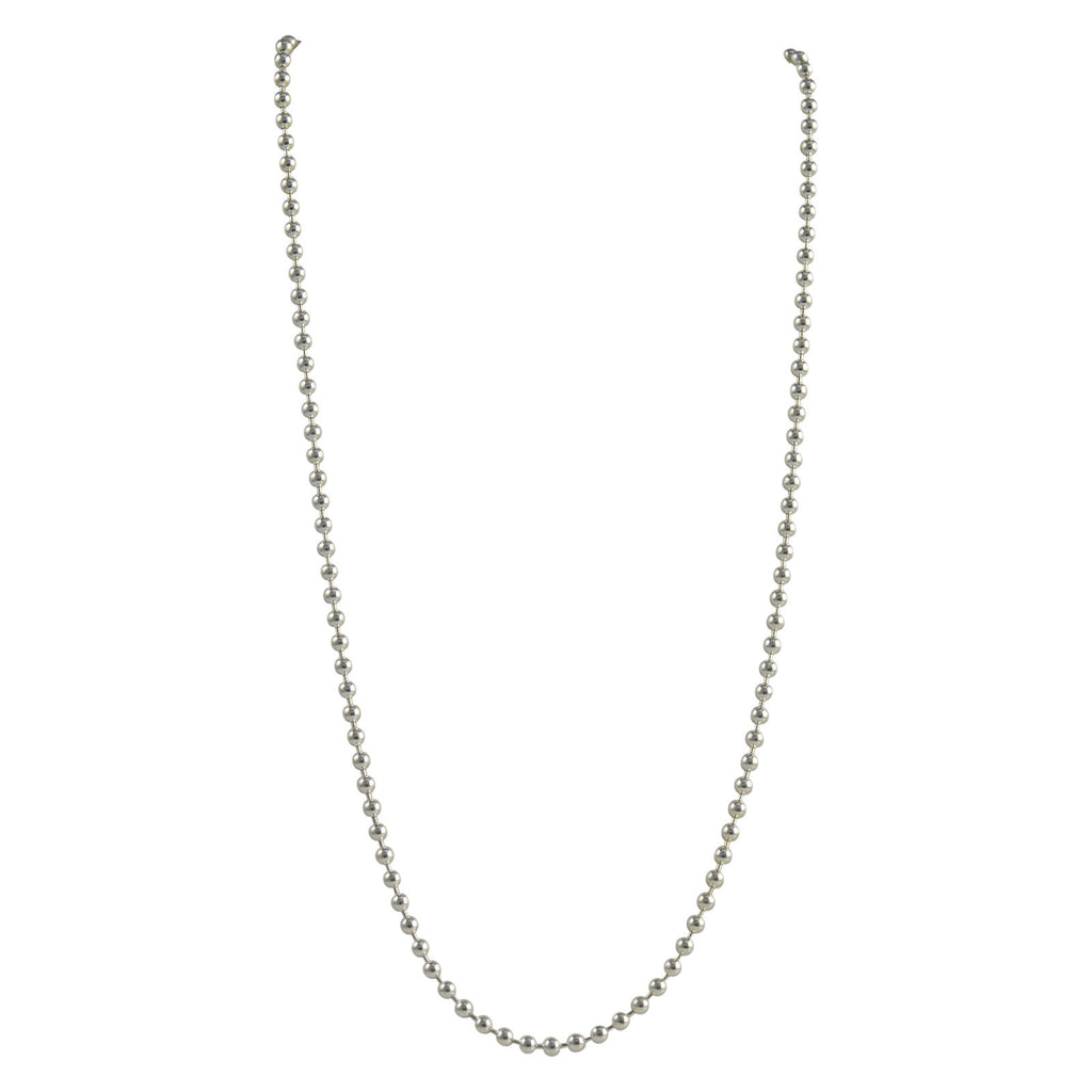 Sterling Silver Round Bead Ball 300 3mm Necklace Chain Solid Dog Tag Jewelry