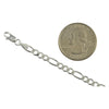 Sterling Silver Figaro 120 5mm Mens Bracelet Chain Italian Italy Solid .925