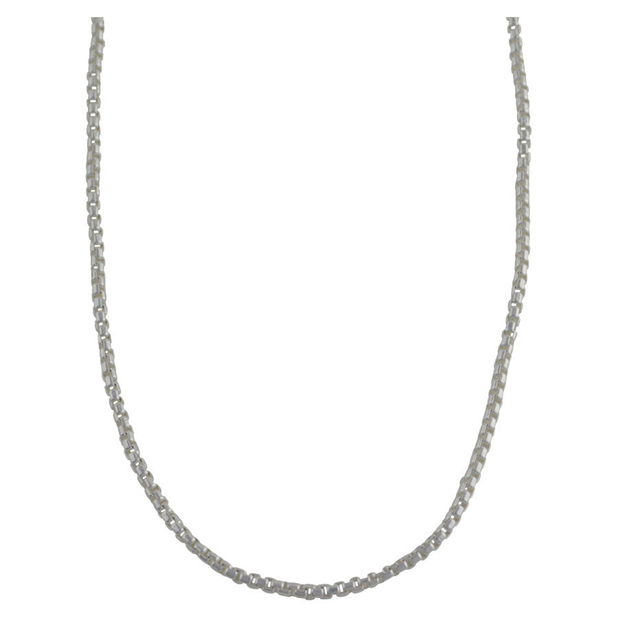 Sterling Silver Half Round Box 050 2.5mm Necklace Chain Italian Italy Solid .925