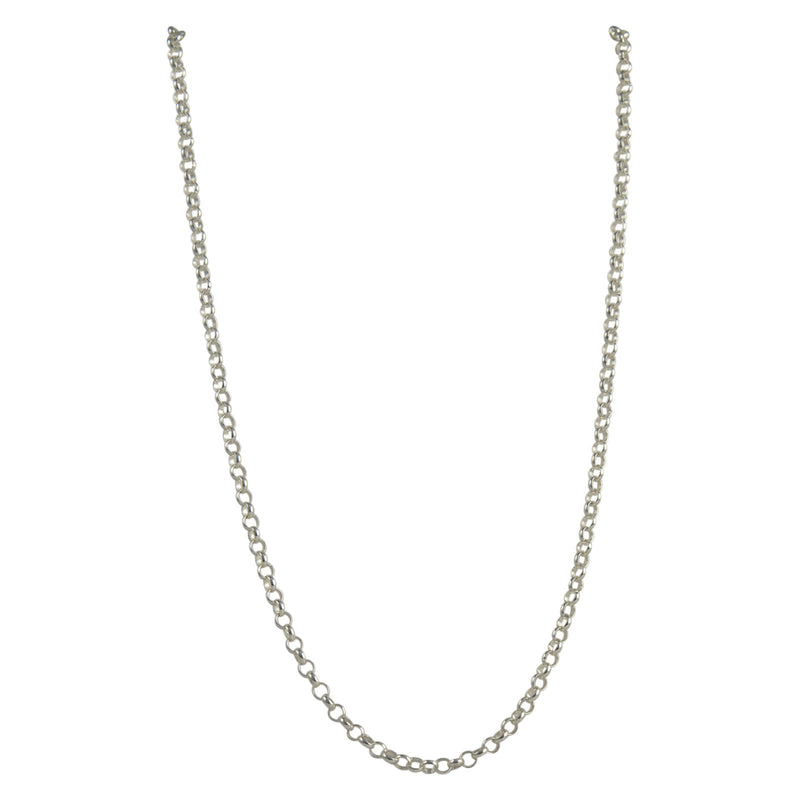 Sterling Silver Rolo 040 3mm Necklace Chain Italian Italy Solid .925 Jewelry