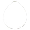 Sterling Silver Round Omega 020 1mm Necklace Chain Italian Italy Solid .925