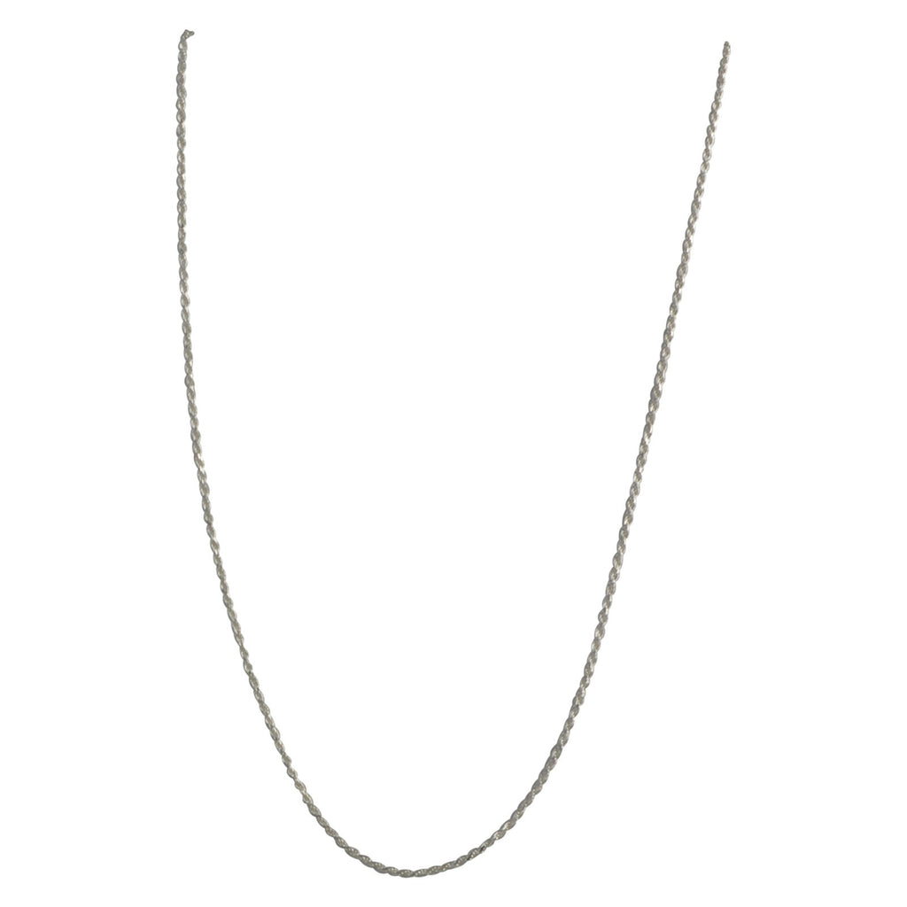Sterling Silver Rope 025 1mm Necklace Chain Italian Italy Solid .925 Jewelry